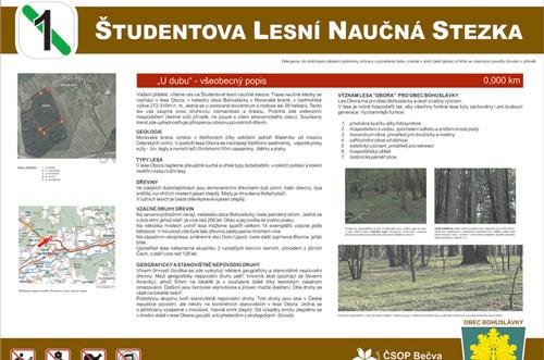Študentova lesní naučná stezka