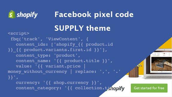 Facebook pixel code pro dynamický remarketing na Shopify